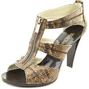 Michael Kors Berkley T-strap leather sand sandals